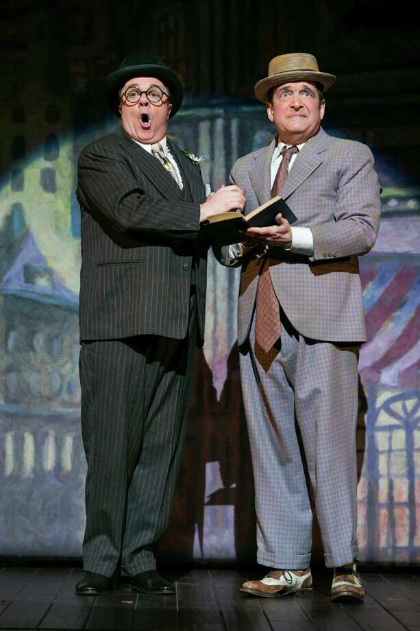 "FILE -- Nathan Lane, left, and  Lewis Stadlen during a scene in the play ""The Nance,"" at Lyceum Theater in New York, March 20, 2013. Lane was nominated for the 67th annual Tony Awards as best actor in a play for his role in the production. (Sara Krulwich/The New York Times) Photo: SARA KRULWICH, STF / NYTNS"