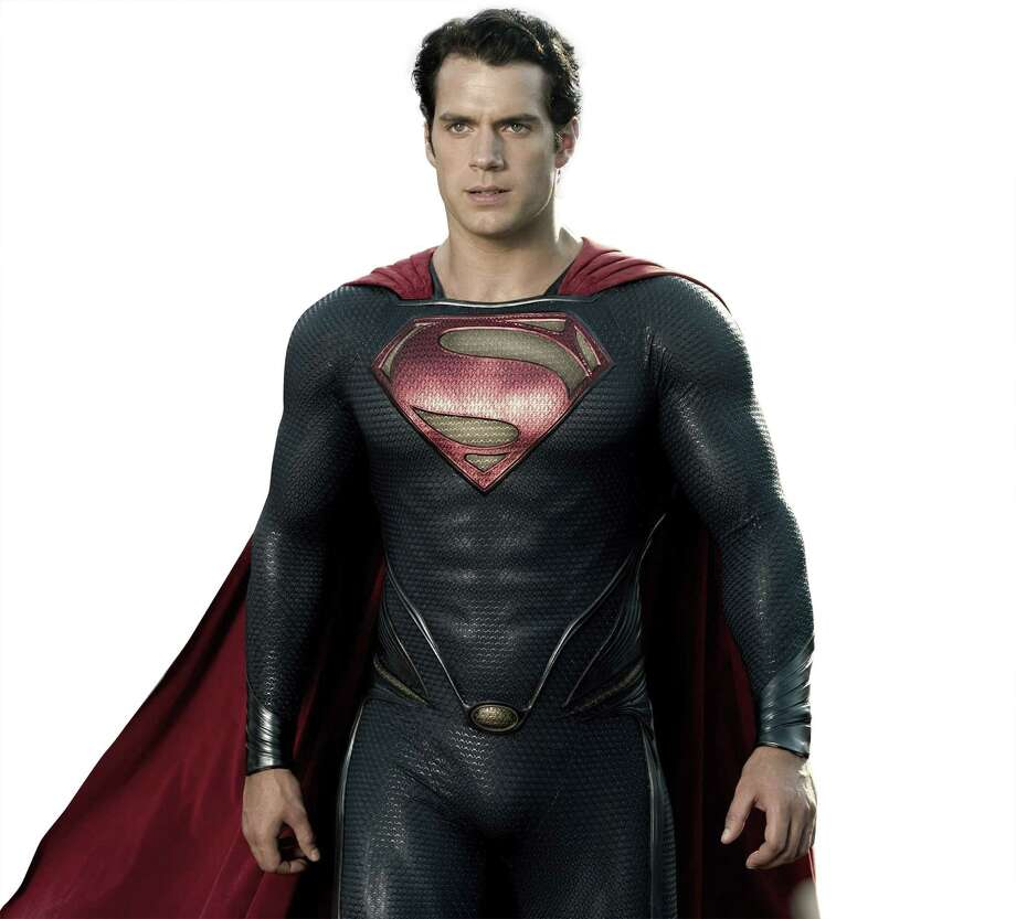 "Left: Henry Cavill is Superman in  ""Man of Steel."""