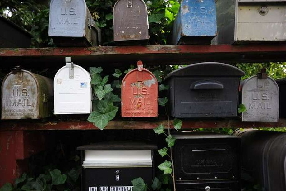 Houseboat mailboxes now. (Elliot Suhr/seattlepi.com).  Photo: Elliot Suhr / seattlepi.com
