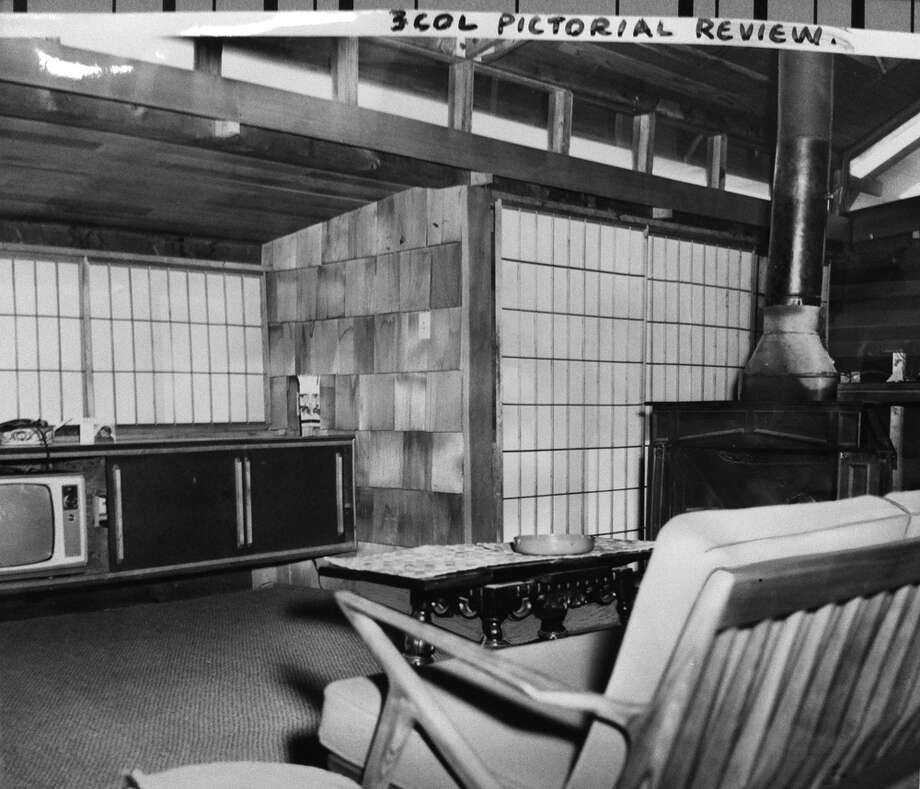 "Seattle houseboat, ""Mad Men""-style. This 1964 photo shows off Japanese-influenced architecture and lots of windows. (Photo: Janet Webber, copyright MOHAI,  Seattle Post-Intelligencer collection, 2000.107.9). Photo: -"