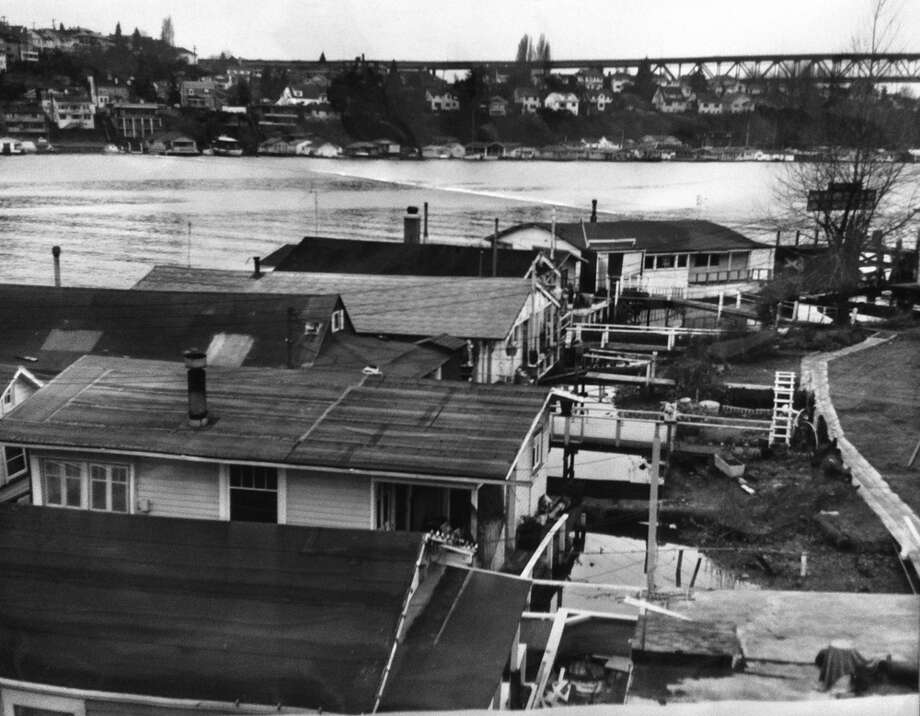 The '60s saw a gentrification in houseboats, in which fancier homes sold for a pricey $20,000 at the time, according to the caption of this 1963 photo. (Photo: Phil Webber, copyright MOHAI, 2000.107.8). Photo: -