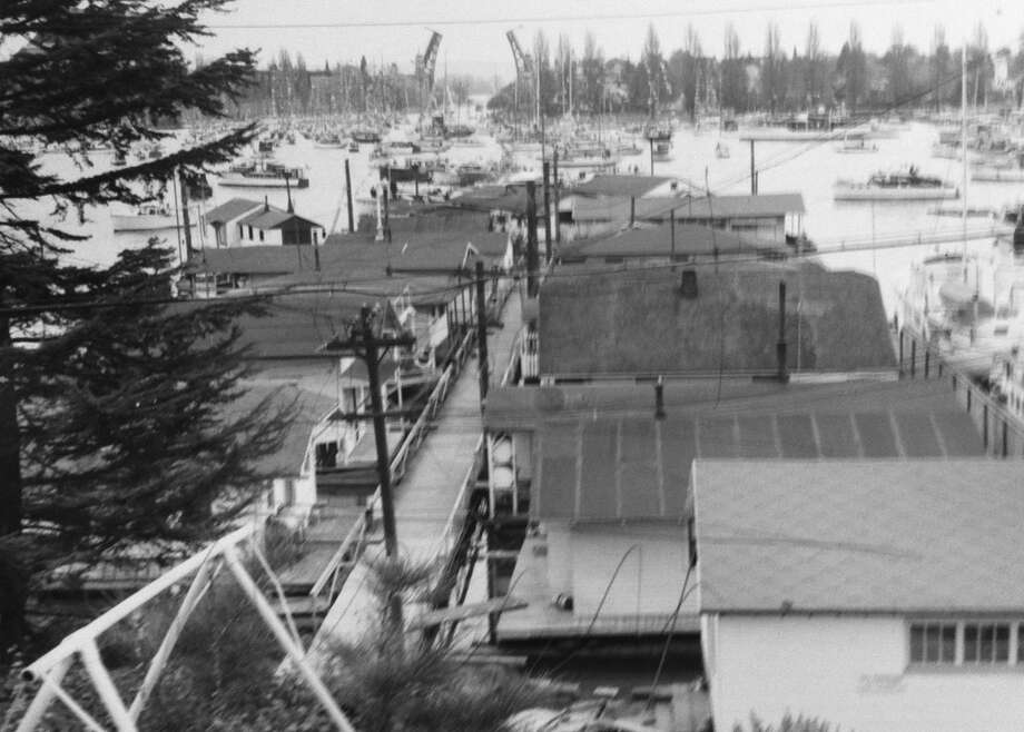 Looking toward the Montlake Cut, 1956. (Photo: copyright MOHAI, Seattle Post-Intelligencer collection, 2000.107.13). Photo: -