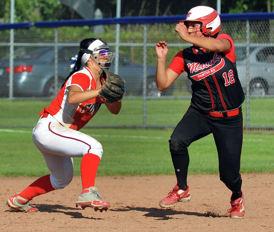 Class L softball finals action between Masuk and Foran in West Haven, Conn. on Wednesday June 12, 2013. Photo: Christian Abraham / Connecticut Post