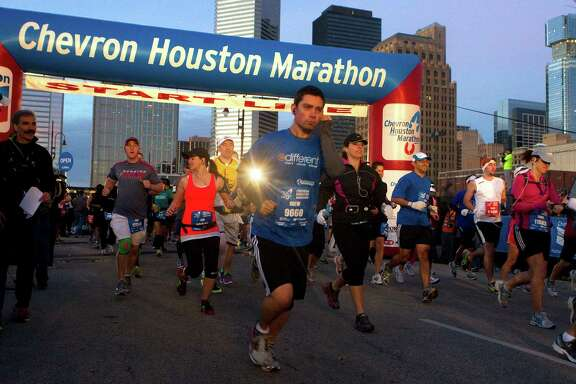 Changes to the 2014 Chevron Houston Marathon and Aramco Houston Half Marathon courses mean all 25,000 runners will line up behind a single starting line instead of one for each race.