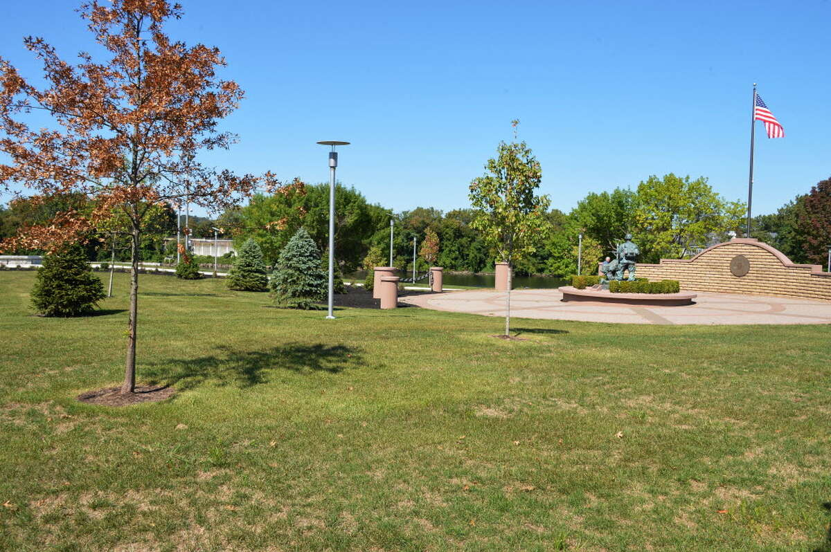 Troy's new waterfront park is a potential site for a playground, which parents in the emerging residential neighborhood say is desperately needed. (Photo by John Carl D'Annibale/Times Union)
