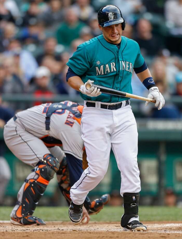 June 12: Astros 6, Mariners 1Mike Zunino of the Mariners heads back to the dugout after striking out. Photo: Otto Greule Jr, Getty Images