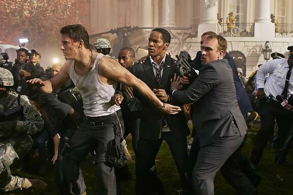 """Channing Tatum as a cop and Jamie Foxx as the president in """"White House Down."""""""