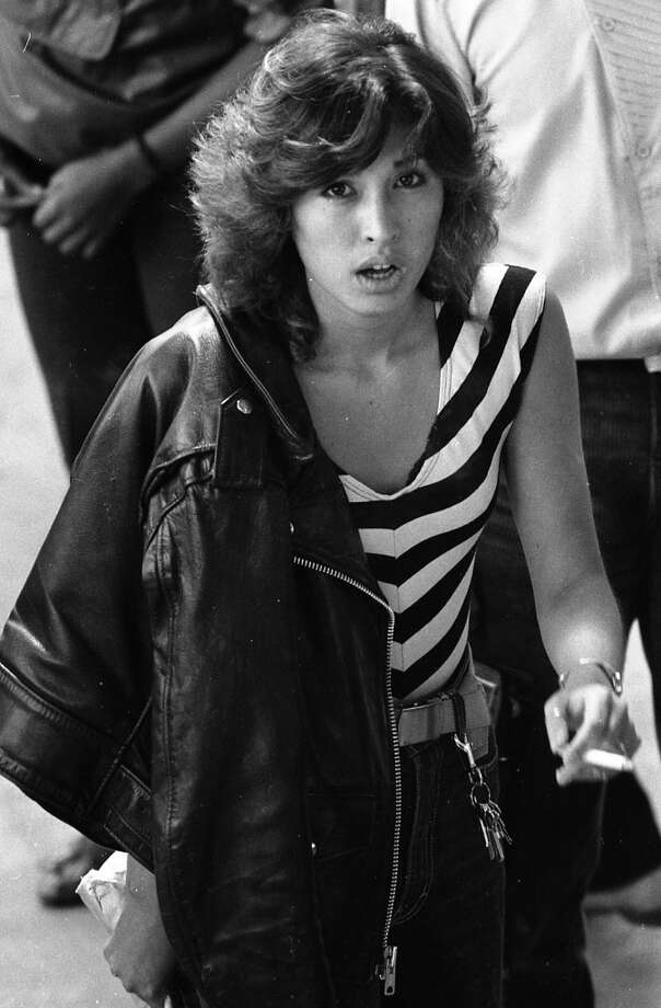 The first of many cigarettes that you'll see in the 1982 McAteer High photos. I'm wondering if the school had a Winston Selects vending machine on campus. Between the perfect hair, badass leather jacket/keychain combo and Molly Ringwald lips, I'm guessing this student broke a few dozen hearts. Photo: Gary Fong, The Chronicle