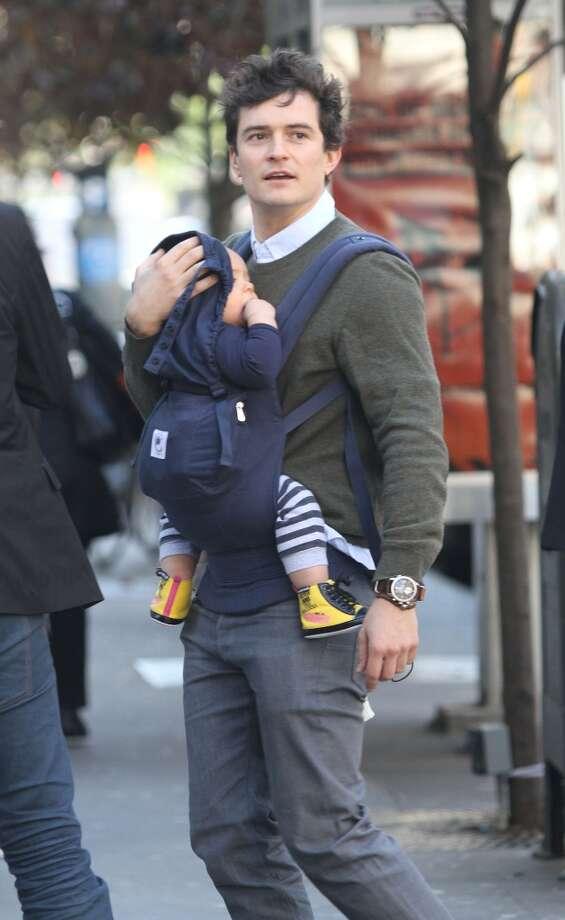 Actor Orlando Bloom and his ex-wife, model Miranda Kerr, welcomed son Flynn in 2011. Photo: Marcel Thomas, FilmMagic