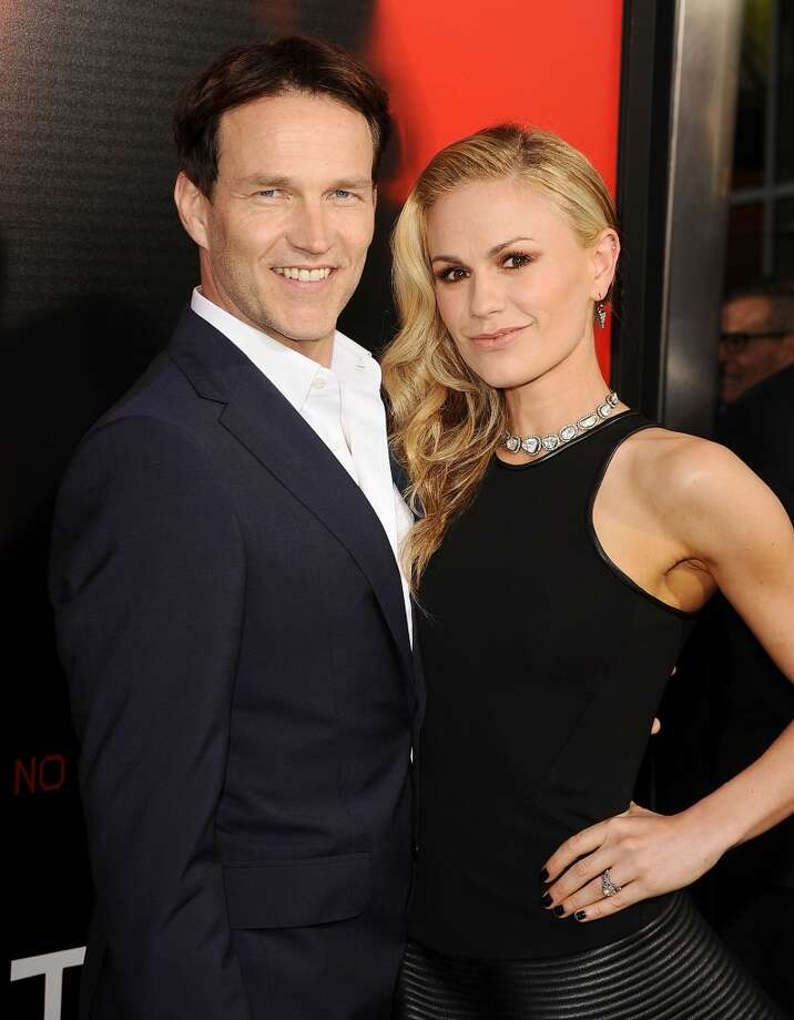 "Actor Stephen Moyer and his ""True Blood"" co-star wife Anna Paquin welcomed twins, Charlie and Poppy, in 2012. He also had two kids, Billy and Lilac, from previous relationships. Photo: Jason LaVeris, FilmMagic"