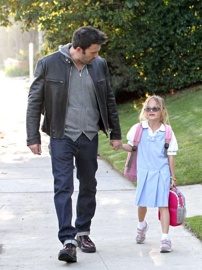 Ben Affleck and Violet are walking in Santa Monica. Affleck has two other kids with wife Jennifer Garner, Seraphina and Samuel. Photo: JB Lacroix, WireImage
