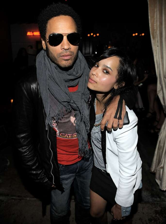 Singer Lenny Kravitz and daughter actress Zoe Kravitz, his only child with ex-wife Lisa Bonet. Photo: Charley Gallay, WireImage