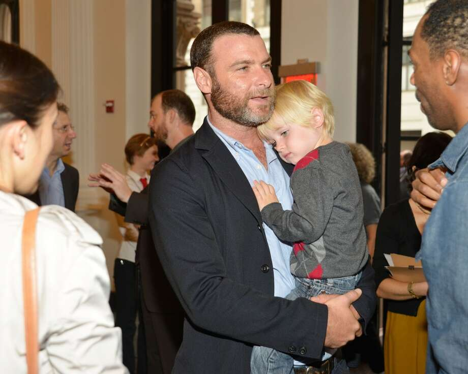 Actor Liev Schreiber cuddles son Alexander Schreiber. He also has another son with wife Naomi Watts. Photo: Ben Gabbe, Getty Images