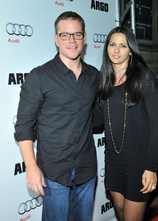Matt Damon and Luciana Barroso are the proud parents of four girls. Photo: Sonia Recchia, Getty Images
