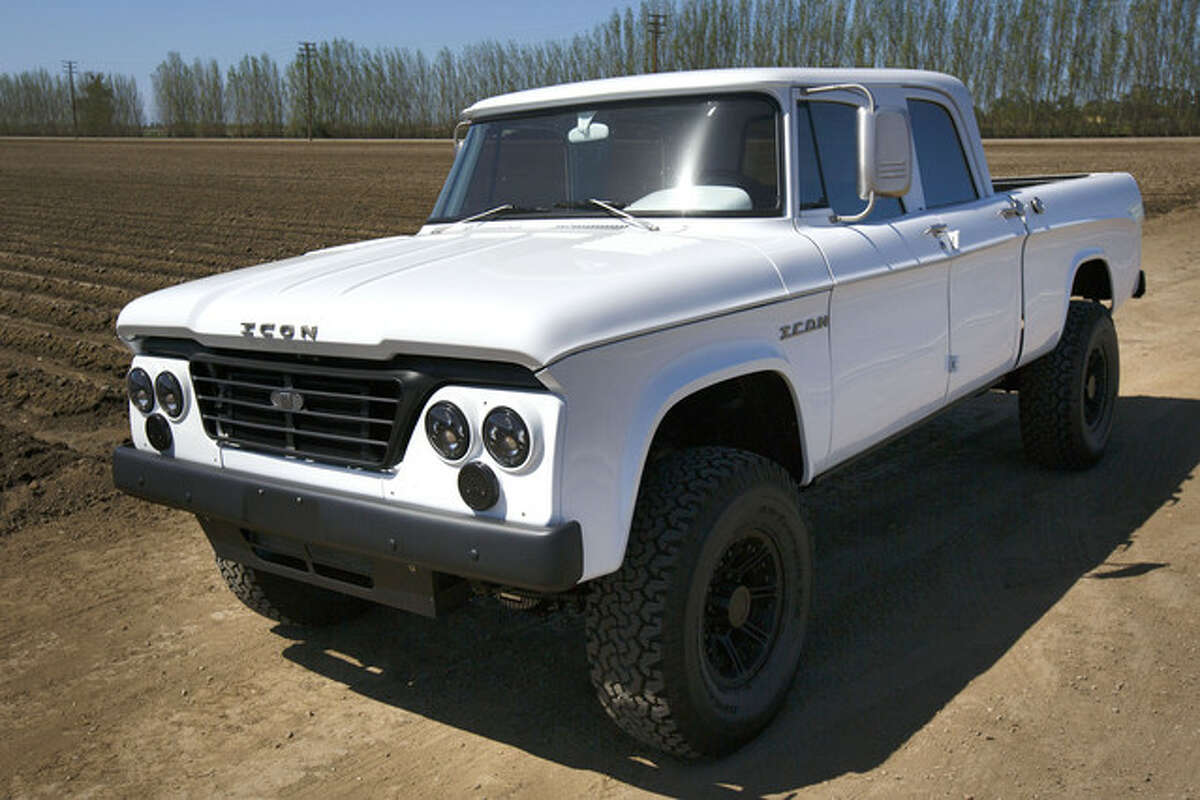 A 1965 Dodge D200. Icon Motors spent a year transforming the pickup into a crew-cab with a modern chassis and a powerful six-cylinder turbo-diesel engine. Photographer: Patrick Fallon/Bloomberg