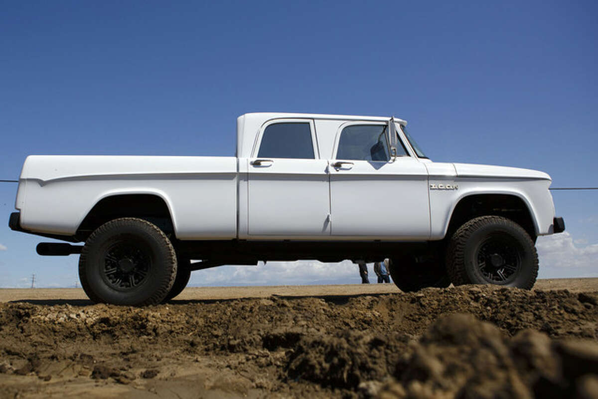 A 1965 Dodge D200 from Icon Motors, a custom order costing $280,000. The motor produces 975 pound-feet of torque and the interior has bison hide on the room ceiling and carpets from Rolls Royce. Photographer: Patrick Fallon/Bloomberg