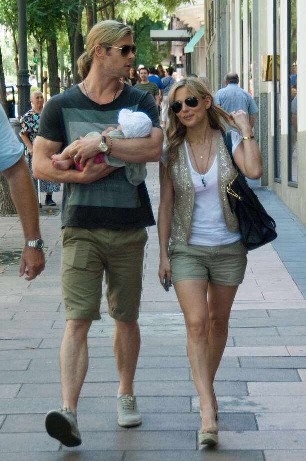 """Thor"" star Chris Hemsworth and his wife, actress, Elsa Pataky, welcomed their daughter India Rose in 2012."