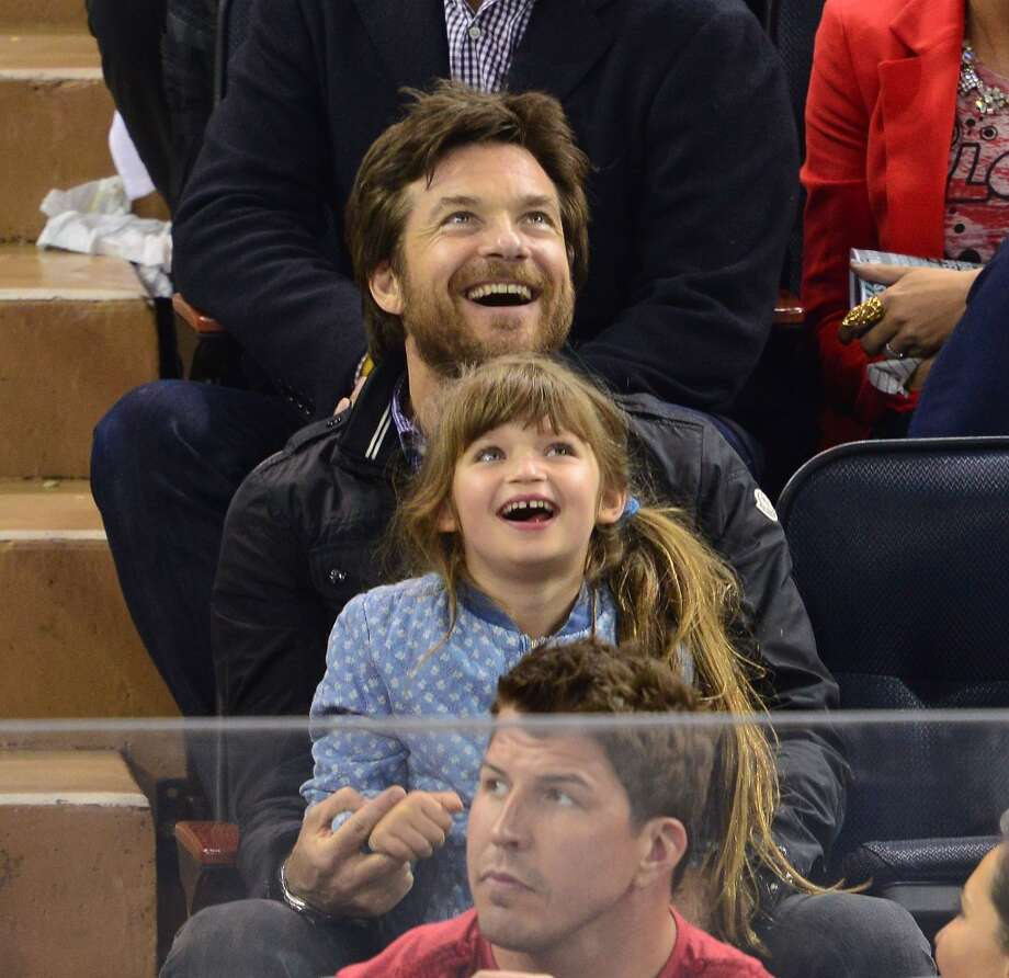 Jason Bateman and daughter Francesca Bateman attend the Boston Bruins Vs New York Rangers. He and his wife, Amanda Anka, also have another daughter, Maple Sylvie, who was born in 2012.