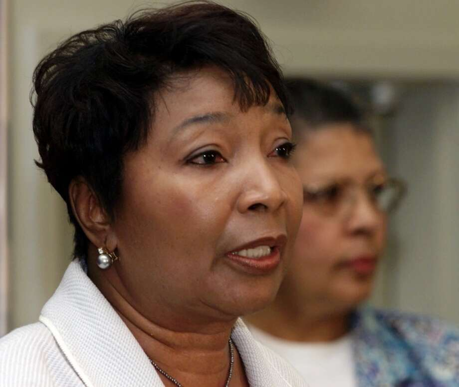 Rep. Eddie Bernice Johnson, D-Texas, addresses a press conference at the NAACP's annual convention in Baltimore Monday, July 10, 2000.  (AP Photo/Roberto Borea) Photo: ROBERTO BOREA, AP