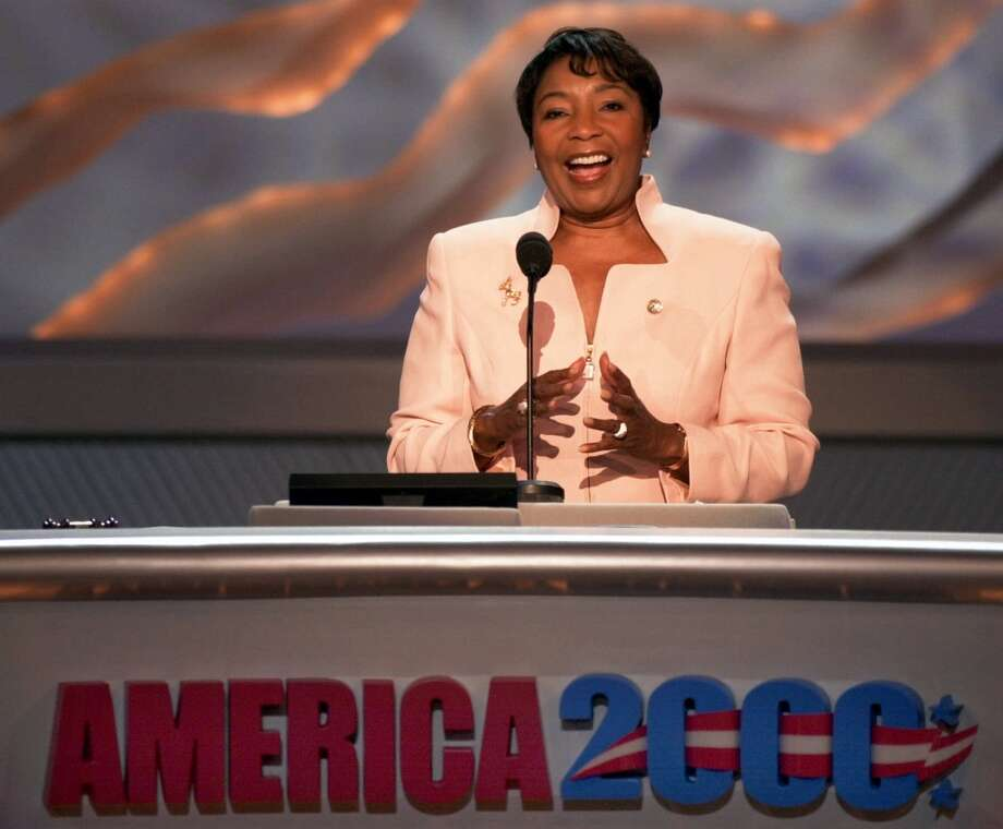 Rep. Eddie Bernice Johnson, D-Texas, speaks at the Democratic National Convention in the Staples Center Tuesday, Aug. 15, 2000, in Los Angeles. (AP Photo/Ron Edmonds) Photo: RON EDMONDS, AP