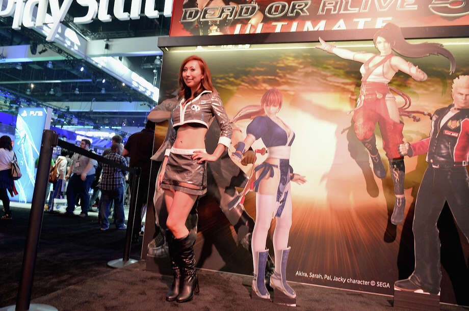 A model at the SEGA Dead of Alive Ultimate display at the E3 Gaming and Technology Conference at the Los Angeles Convention Center on June 11, 2013 in Los Angeles, California. Photo: Alberto E. Rodriguez, Getty Images / 2013 Getty Images
