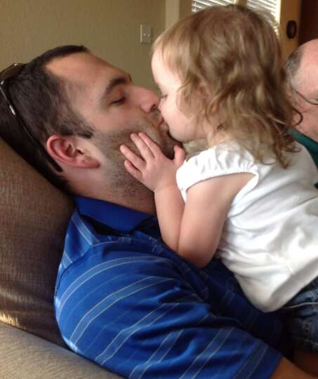 How could you not love this photo?  Birthday girl with her love, Daddy! :)