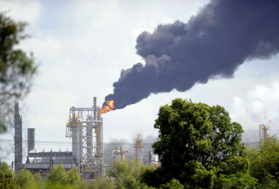 Fire billows from the Williams Olefins Plant  in Ascension Parish, La., on Thursday, June 13, 2013.