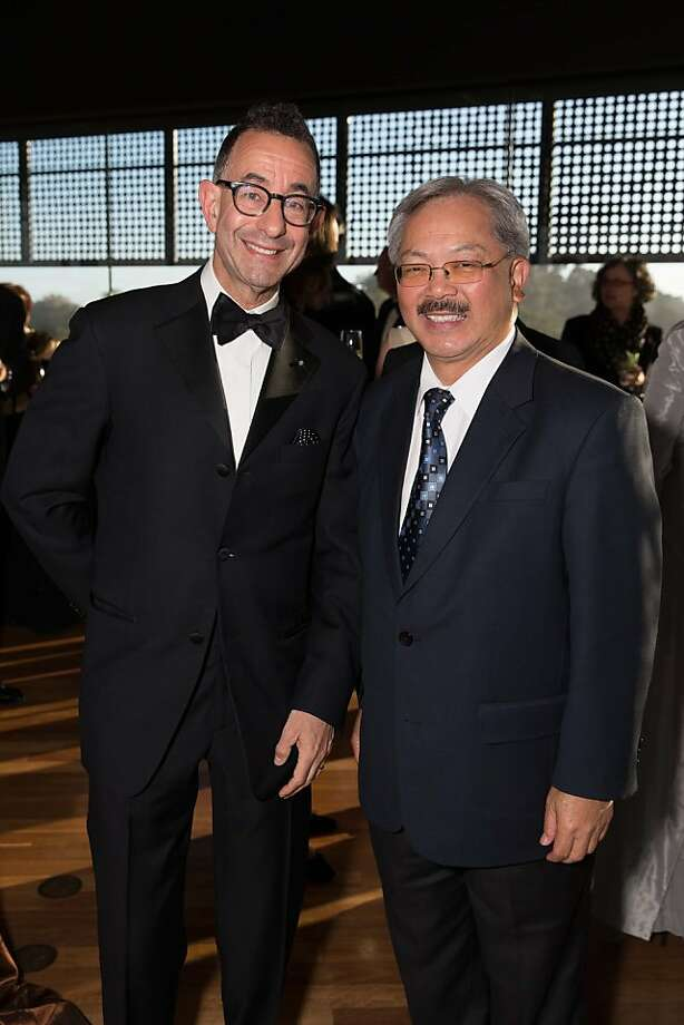New FAMSF Director of Museums Colin Barry Bailey poses with Mayor Ed Lee at Bailey's welcome reception, which took place at the de Young on June 12, 2013. Photo: Drew Altizer Photography
