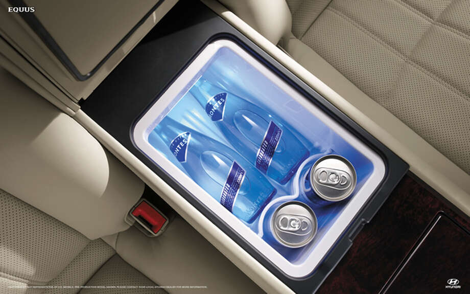 Drivers used to have the option of a refrigerator in the Hyundai Equus. Photo: File