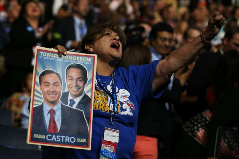 A fan at the Democratic National Convention.