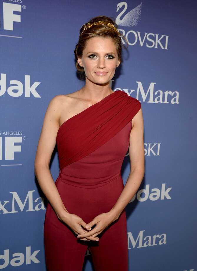 BEVERLY HILLS, CA - JUNE 12:  Actress Stana Katic attends Women In Film's 2013 Crystal + Lucy Awards at The Beverly Hilton Hotel on June 12, 2013 in Beverly Hills, California.  (Photo by Michael Buckner/Getty Images for Women In Film)