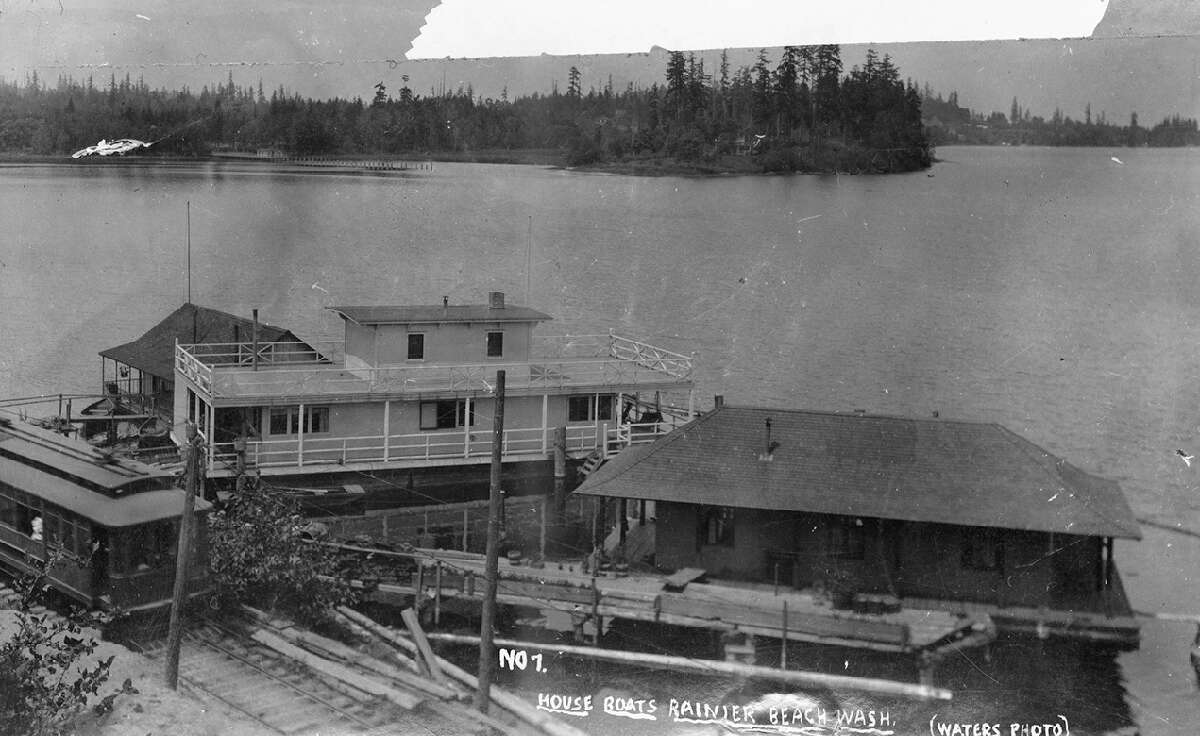 Houseboats are as old as Seattle and once numbered roughly 2,000. This Rainier Beach photo, circa 1900, is one of the oldest public photos of houseboats in Seattle. In the early days, houseboats were mostly small, crude homes on rafts for loggers.