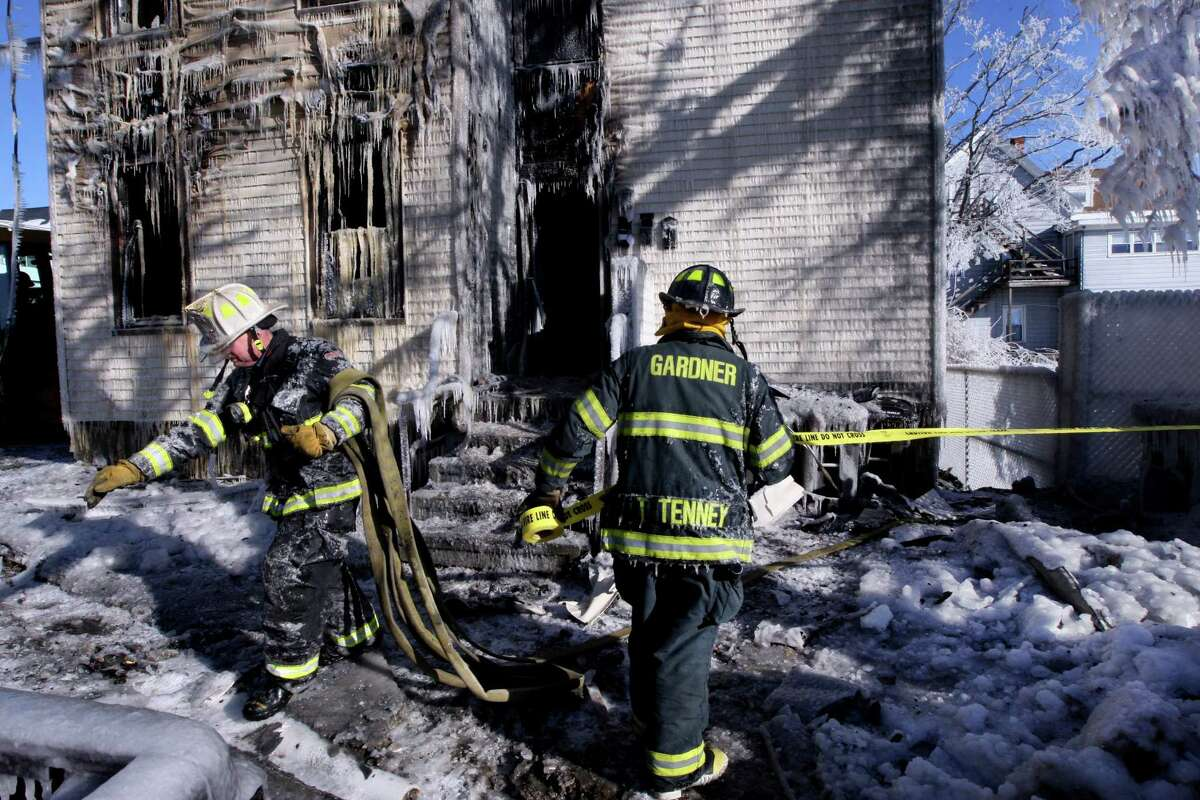 Fire captains work an average of 58 hours a week. (Photo by Bill Greene/The Boston Globe via Getty Images)