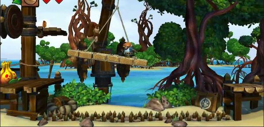 The plot of the new Nintendo game 'Donkey Kong' evolves around Donkey Kong's home island being invaded by vikings. It will launch in November for the Wii U.