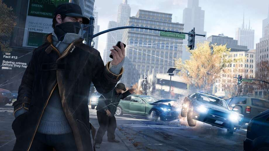 Ubisoft's 'Watch Dogs,' about a super-hacker who can eavesdrop on phone conversations, is one of the hyped games released at E3.