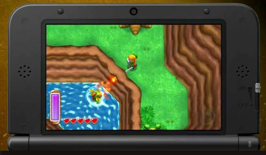Among the array of games being presented by Nintendo was a new take on a classic: 'The legend of Zelda: A Link Between Worlds' for 3DS.  November release.