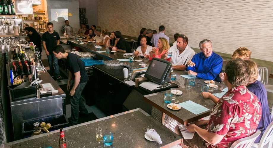 People enjoy dinner at Donostia in Los Gatos.