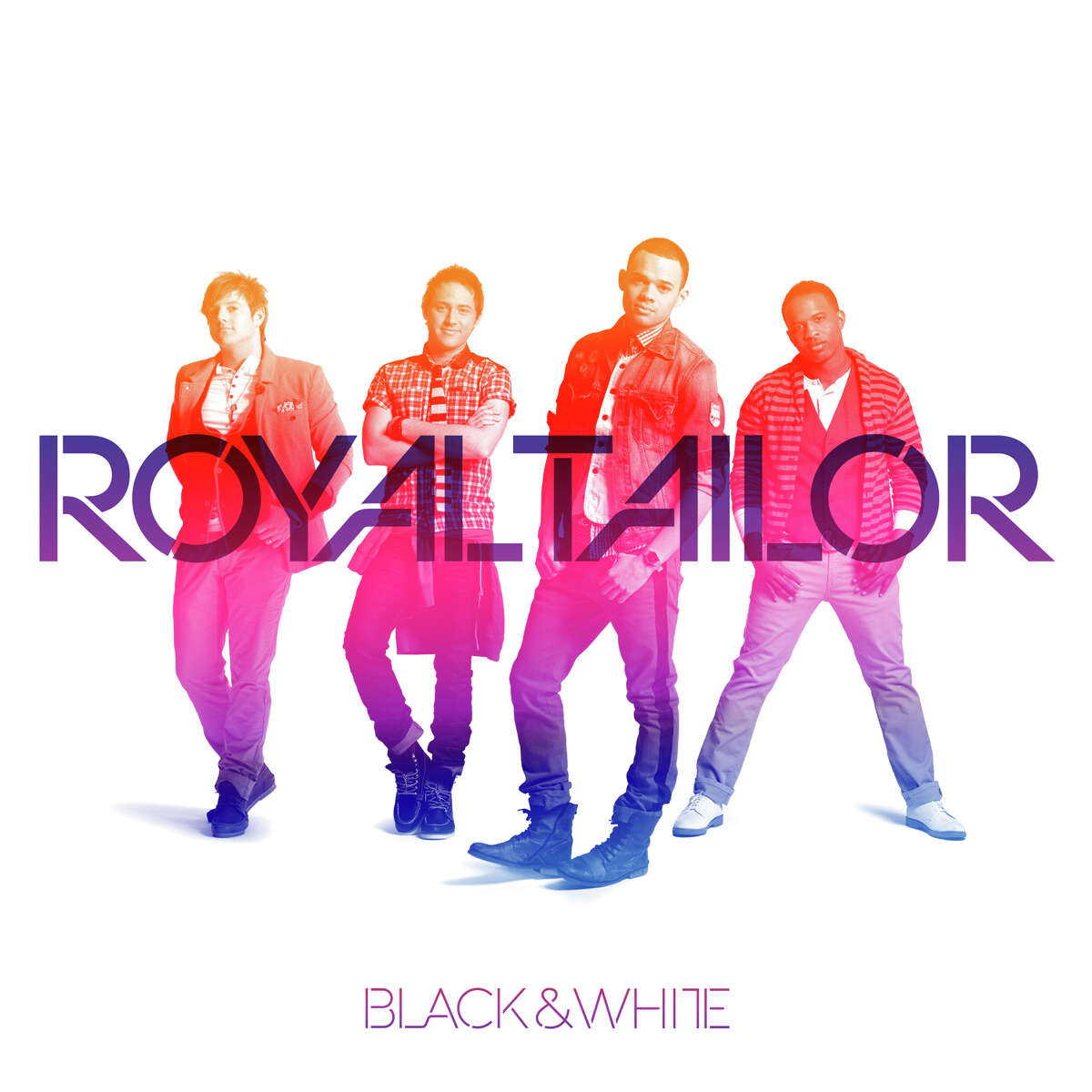 CD COVER - Christian contemporary band Royal Tailor - BLACK & WHITE Credit: Provident Label Group