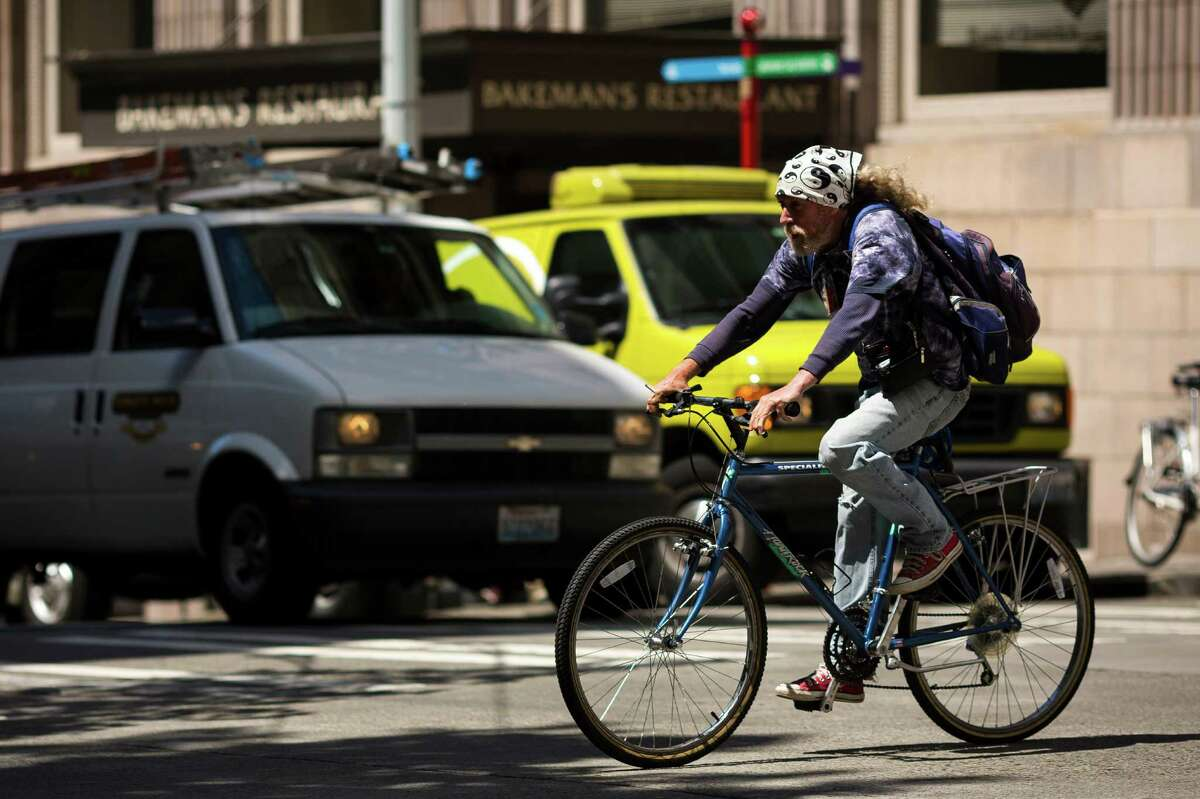 A seattlepi.com analysis of state Department of Transportation collision records shows which Seattle intersections have seen the most car vs. bike collisions in the past three years. Click through to see which intersections saw the most reported crashes involving cyclists between January 2010 and January 2013. Above, bikers navigate one of Seattle's most dangerous intersections for cyclists - Second Avenue and Cherry Street - on Thursday, June 13, 2013, in downtown Seattle.
