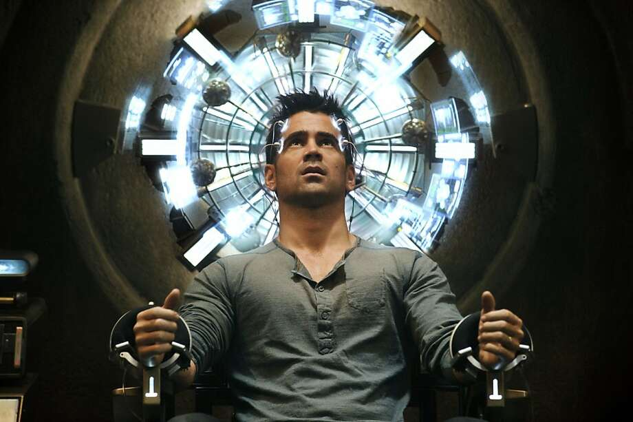 "Total RecallIn ""Total Recall"" Colin Farrell's character suspects he might be a spy without remembering it, but it turns out his wife is not really his wife ... She's a spy. Photo: Michael Gibson, Associated Press"