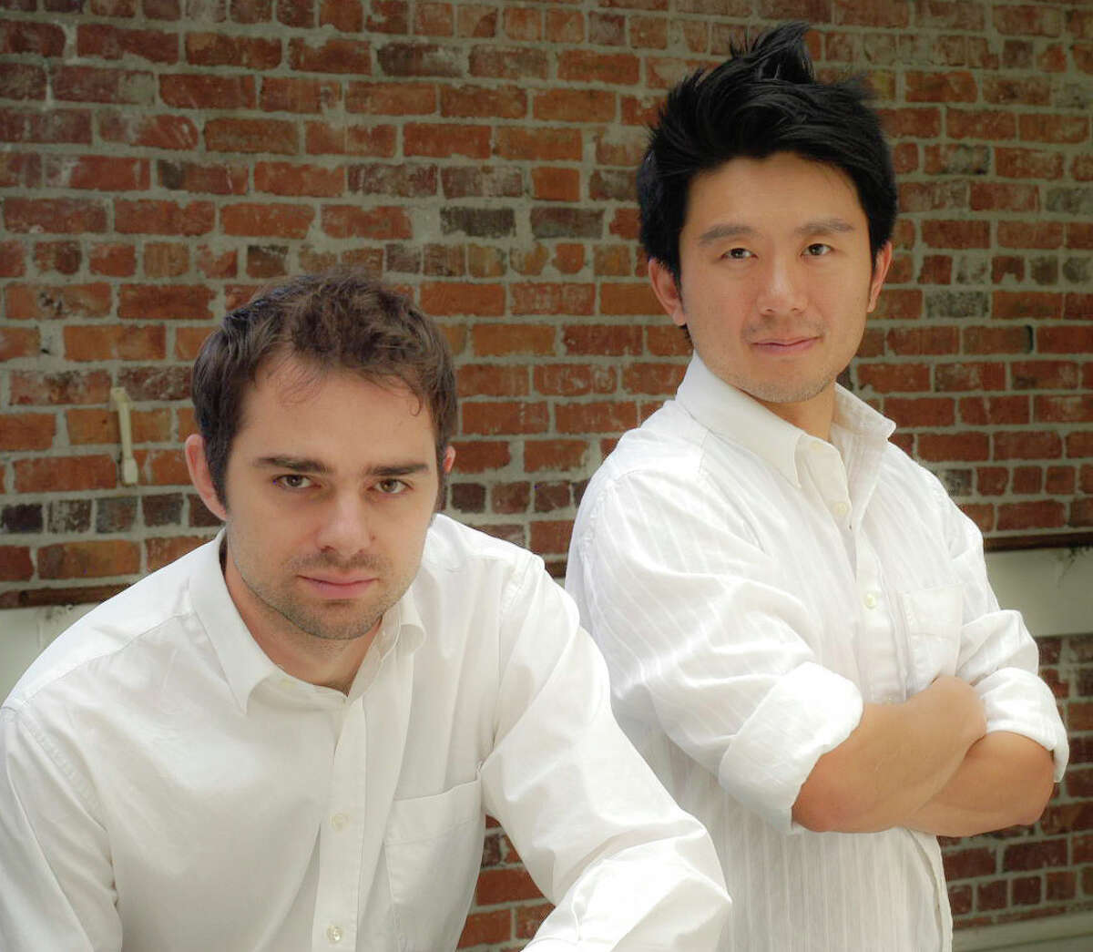 Aaron Jafferis of New Haven (left) and Byron Au Yong are the creators of a new musical