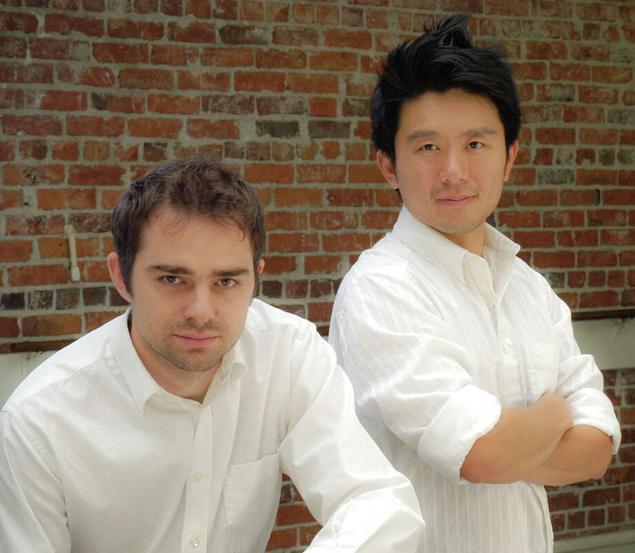 "Aaron Jafferis of New Haven (left) and Byron Au Yong are the creators of a new musical ""Stuck Elevator"" that is being presented by the International Festival of Arts and Ideas in New Haven from Thursday, June 20 through Saturday, June 29. The performances are at Long Wharf Theatre. Photo: Contributed Photo"