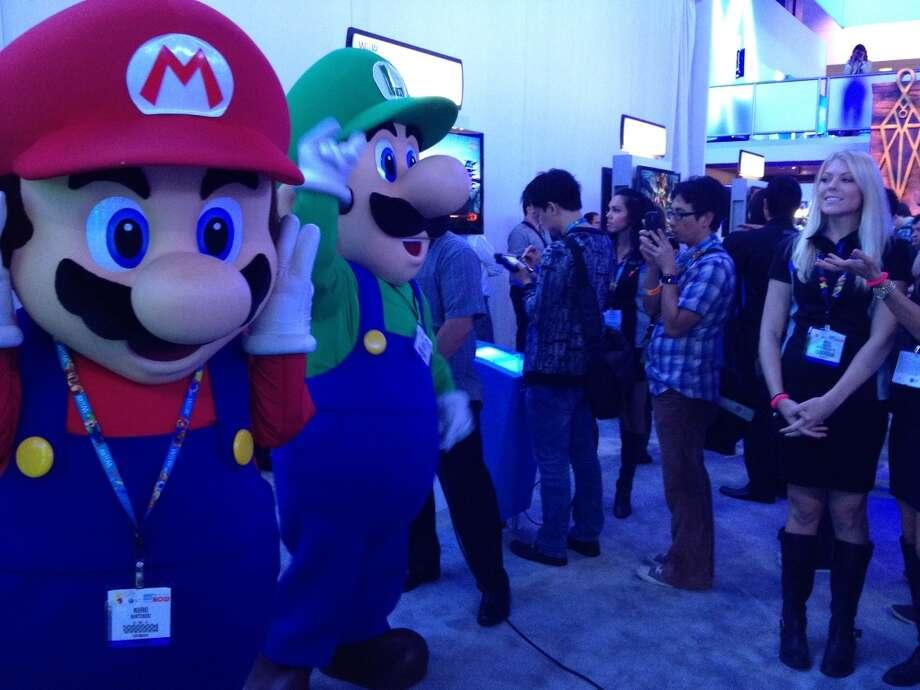 Mario and Luigi naturally headlined the Nintendo booth