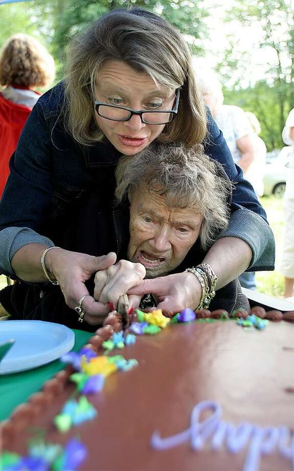 She wished for a sharper knife: Great niece Lisa Hahto-Aune gives Millie Dove Muller a 