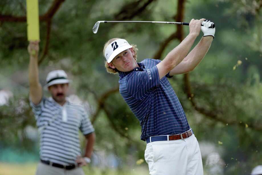Brandt Snedeker tees off on the eighth hole during the first round of the U.S. Open golf tournament at Merion Golf Club, Thursday, June 13, 2013, in Ardmore, Pa. (AP Photo/Julio Cortez) Photo: Julio Cortez, Associated Press / AP