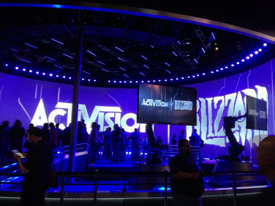 Activision/Blizzard's massive booth