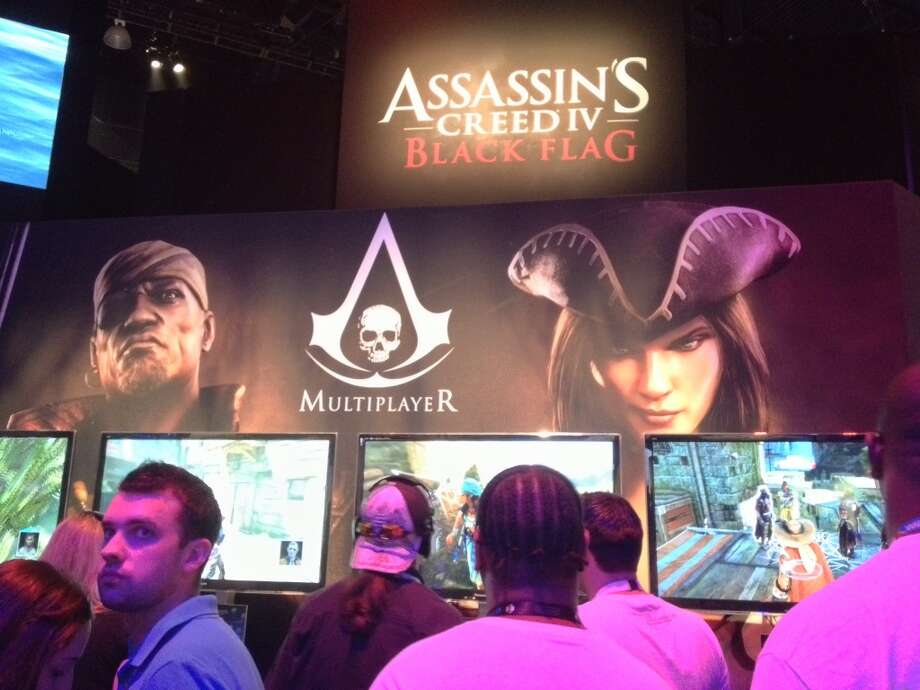 "E3 attendees check out Ubisoft's ""Assassin's Creed IV."""