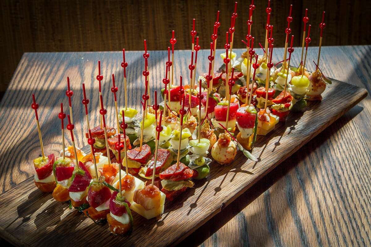 The Bite-Size Skewers at Coqueta in San Francisco, Calif., are seen on Monday, June 10th, 2013.