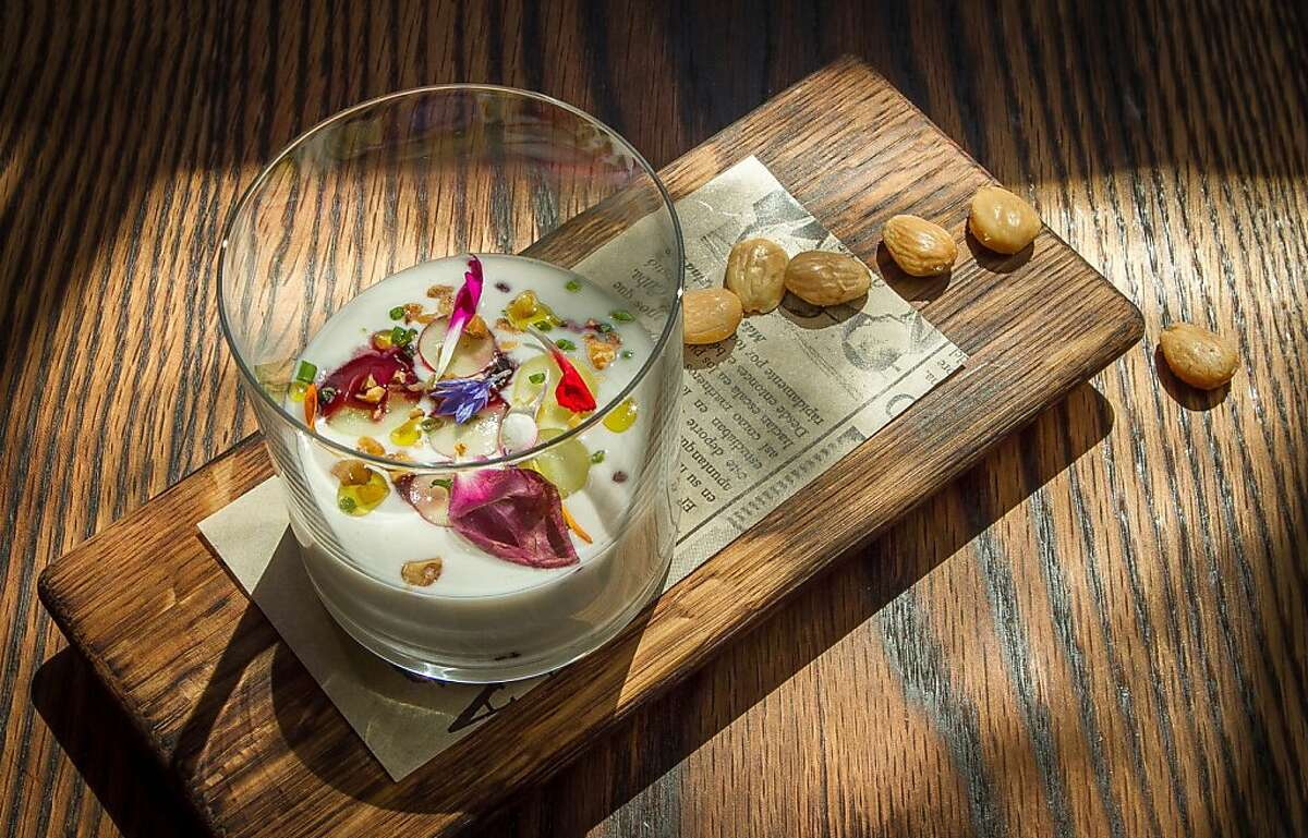 White Gazpacho at Coqueta in San Francisco, Calif., is seen on Monday, June 10th, 2013.