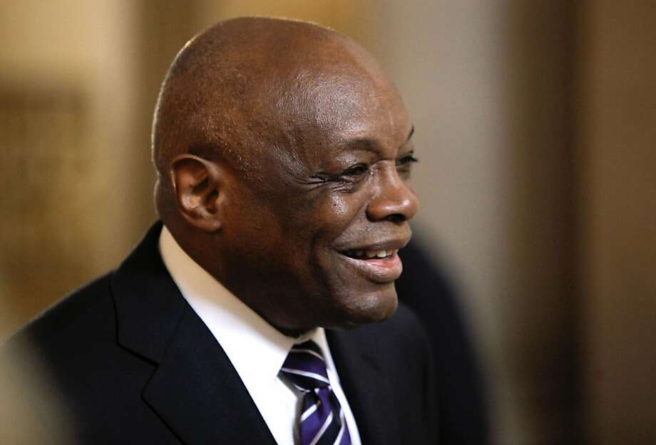 Former San Francisco Mayor Willie Brown, during a commissioner swearing in ceremony at City Hall, on Thursday August 30, 2012, in San Francisco, Calif.  Photo: Michael Macor, The Chronicle